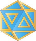 Logo géométrique - illustration numérique Photo stock