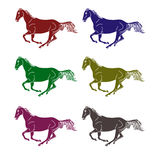 Logo - a galloping horse Royalty Free Stock Image