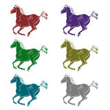 Logo - a galloping horse Royalty Free Stock Images