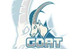 Logo Games Inspirations, logo della capra, colore bianco del fondo, Logo Games Sport Immagine Stock