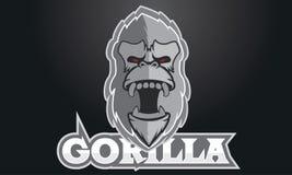 Logo Games Inspirations, logo della capra, Logo Games Sport, logo della gorilla, Gorilla Silver, Gorilla Game immagine stock libera da diritti