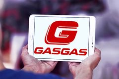 Gas Gas motorcycle manufacturer logo Stock Images