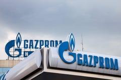 Logo Gazprom kwatery główne dla Serbia Gazprom jest jeden głównej władzy i energii firmy Rosja zdjęcie royalty free
