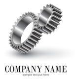 Logo gears vector illustration