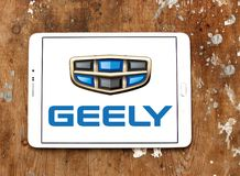 Geely automotive manufacturing company logo. Logo of Geely company on samsung tablet. Geely is a Chinese multinational automotive manufacturing company, that Stock Photography