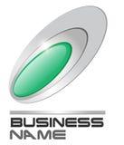Logo gem in silver ellipses Royalty Free Stock Photo