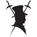 Logo gentlemen with rapires Royalty Free Stock Images