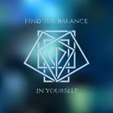 Logo geometric rhombus  sign. On the blue background Royalty Free Stock Photos