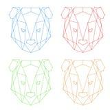 Logo geometrico dell'orso Fotografia Stock Libera da Diritti