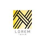 Logo geometrico di progettazione per la società Fotografie Stock Libere da Diritti