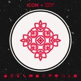 logo Geometrisk orientalisk arabisk modell ditt designelement Royaltyfri Bild