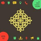logo Geometrisk orientalisk arabisk modell ditt designelement Arkivfoto