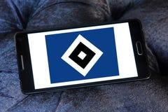 Hamburg SV soccer club logo. Logo of german Hamburg SV club on samsung mobile Stock Images
