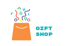 Logo for gift shop Stock Photography