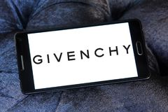 Givenchy fashion company logo. Logo of Givenchy fashion company on samsung mobile . Givenchy is a French luxury fashion and perfume house. It hosts the brand of Stock Photography