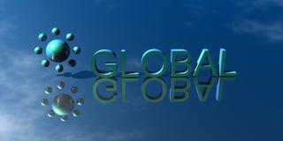 Logo Global. 3d Presentation Logo Global, green Stock Photography