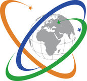Logo global de communication Photos libres de droits