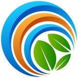 Logo globale dell'albero su bianco Fotografia Stock Libera da Diritti