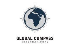 Logo globale della bussola Fotografia Stock