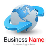 Logo globe, vector. Royalty Free Stock Images