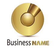 Logo gold sphere. Logo for business, gold glossy sphere Royalty Free Stock Photos