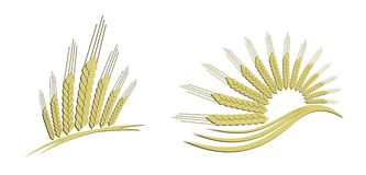 Logo gold wheat. Royalty Free Stock Images