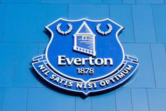 Logo in the Goodison Park stadium, home of Everton Football Club Royalty Free Stock Images
