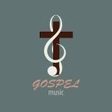 Logo Gospel Music Royaltyfri Bild