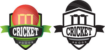 Logo or grahic design for a cricket club Stock Photography
