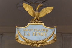 Logo of the grand opera in Venice named La Fenice Royalty Free Stock Photos