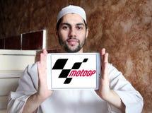 Grand Prix motorcycle racing, MotoGP , logo. Logo of Grand Prix motorcycle racing, MotoGP , on samsung tablet holded by arab muslim man. Grand Prix motorcycle Royalty Free Stock Image