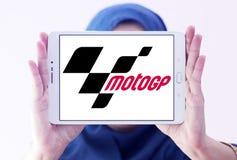 Grand Prix motorcycle racing, MotoGP , logo. Logo of Grand Prix motorcycle racing, MotoGP , on samsung tablet holded by arab muslim woman. Grand Prix motorcycle Stock Images