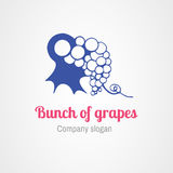 Logo grapes Stock Photos