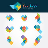 Logo and graphic design. Base on box structure Stock Photography