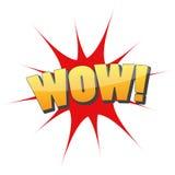 Logo graphique d'icône d'amusement de wow Photos libres de droits