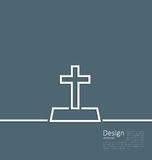 Logo of gravestone in minimal flat style line Stock Images