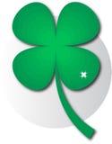 Logo green clover. Vector illustration Stock Photo