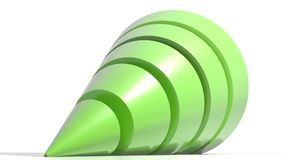 Logo green cone Stock Photos