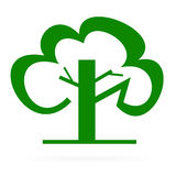 Logo green tree. Raster. Stock Photography