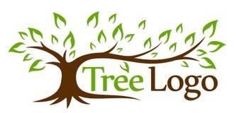 Logo green tree. The stylized logo of a green tree royalty free illustration