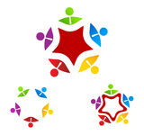 Logo Group Business on star Stock Images
