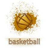 Logo grunge créatif de basket-ball Images stock