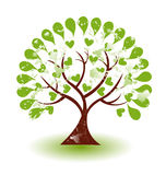 Logo grunge d'arbre Photo stock