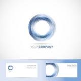 Logo grunge de bleu du cercle 3d Photos stock