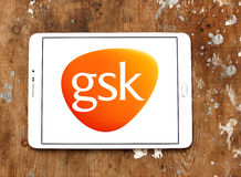 Logo Gsk för farmaceutiskt företag royaltyfri fotografi