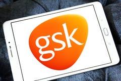 Logo Gsk för farmaceutiskt företag arkivfoton
