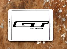 GT Bicycles company logo. Logo of GT Bicycles company on samsung tablet. GT Bicycles designs and manufactures road, mountain, and bmx bicycles royalty free stock photos