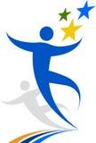 logo gwiazd ludzie Obraz Stock
