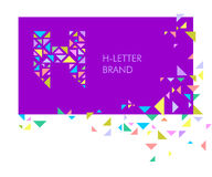Logo H de lettre de triangle illustration de vecteur