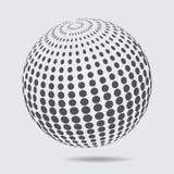 Logo-Halbtonmuster des Bereichs 3D Kreis punktiertes Gestaltungselement ist Lizenzfreies Stockbild